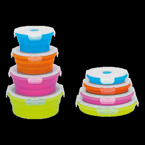Set 4 Recipientes circulares silicona - Kitchen Tropic